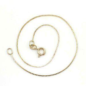 Jewelry - Solid 14K Yellow Gold Thin Petite Chain Bracelet